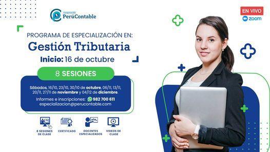 Especialización en Gestión Tributaria, 16 October | Event in Lima | AllEvents.in