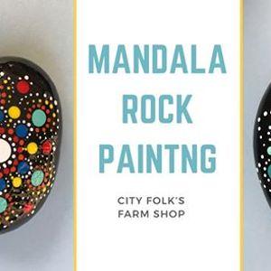 Mandala Rock Painting