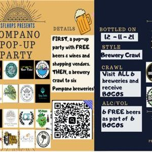 Pompano Pop-Up Party and Brewery Crawl