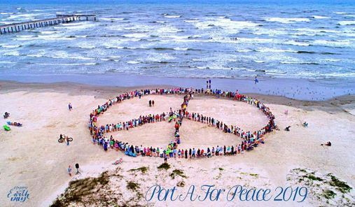 Earth Day Human Peace Sign Celebration, Horace Caldwell ...