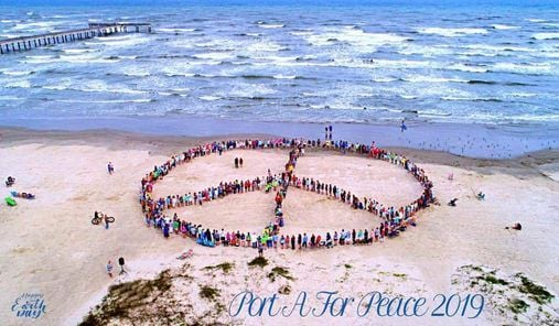 Earth Day Human Peace Sign Celebration, 23 April | Event in Port Aransas | AllEvents.in