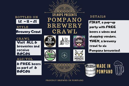 Pompano Pop-Up Party and Brewery Crawl, 11 December | Event in Parkland | AllEvents.in