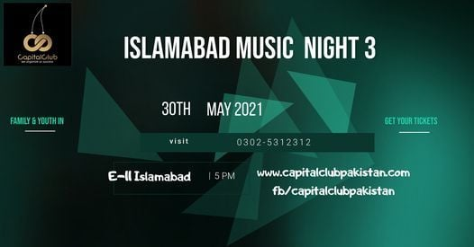 Islamabad Musical Night 3, 30 May   Event in Islamabad   AllEvents.in