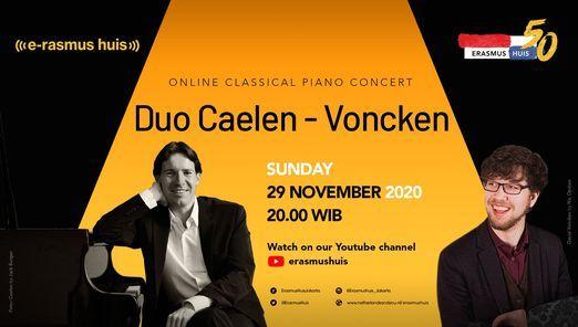 Online Concert: Duo Caelen-Voncken, 29 November | Online Event | AllEvents.in