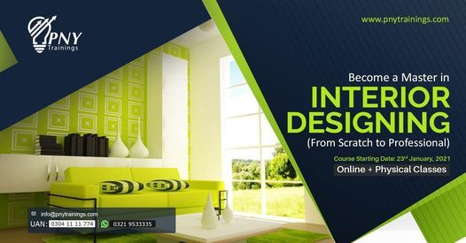 Become a Master in Interior Designing (from Scratch to Pro), 23 January | Event in Lahore | AllEvents.in