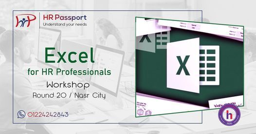 Excel for HR Professionals / R 20 / Nasr City, 23 October   Event in Cairo   AllEvents.in
