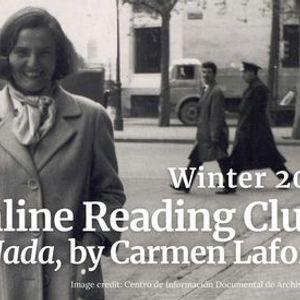 Online Reading Club in Spanish Nada by Carmen Laforet