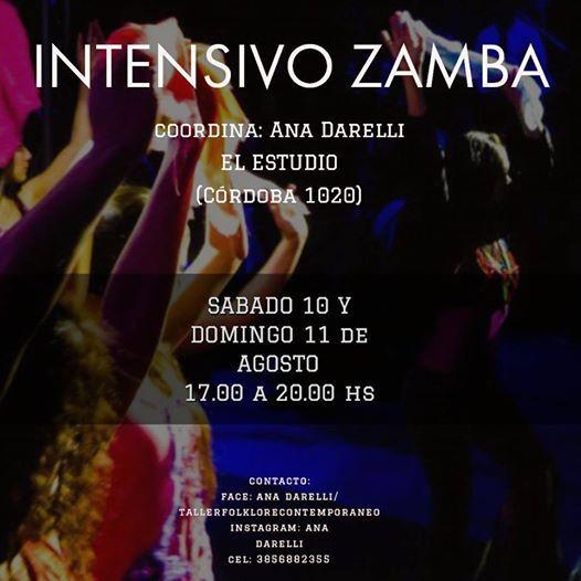 Intensivo De Zamba At El Estudio Cordoba 1020 Cordoba