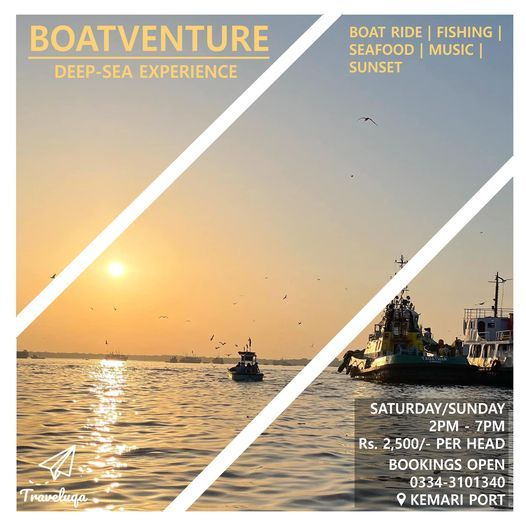Boatventure | Deep-Sea Experience | Boat Ride, Fishing, Seafood, Music, Sunset | Event in Karachi | AllEvents.in