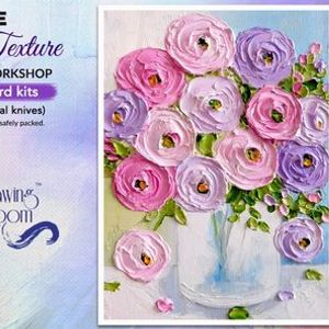 Impasto Texture Knife Painting Online Workshop with Home Delivered Kits