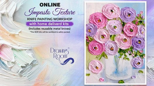 Impasto Texture Knife Painting Online Workshop with Home Delivered Kits, 30 May | Online Event | AllEvents.in