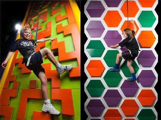 Clip n Climb session for kids with autism