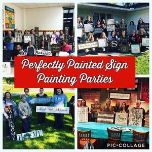 Donnas Perfectly Painted Sign Painting Party