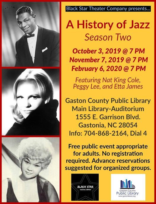 A History of Jazz: Season Two at Gaston County Public