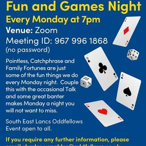 Fun and Games night every Monday