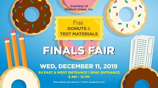 Sjsu Final Exam Schedule Fall 2020.Finals Fair Fall 2019 At Student Union Inc Of Sjsu San Jose
