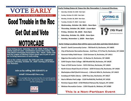 Halloween Events Rochester Ny Wednesday, October 31, 2020 Good Trouble in the Roc Motorcade, 216 Thurston Rd, Rochester, NY