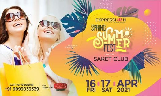 EXPRESSIONS Spring Summer Fest'21, 16 April | Event in Indore | AllEvents.in
