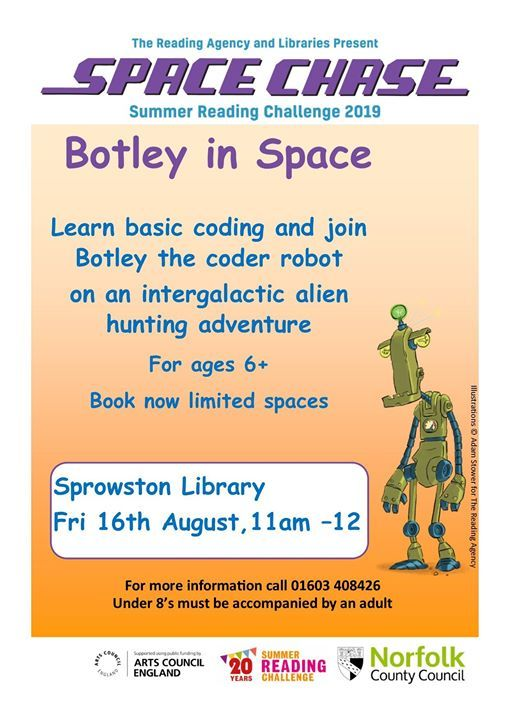 Botley in Space! at Sprowston Library, Norwich