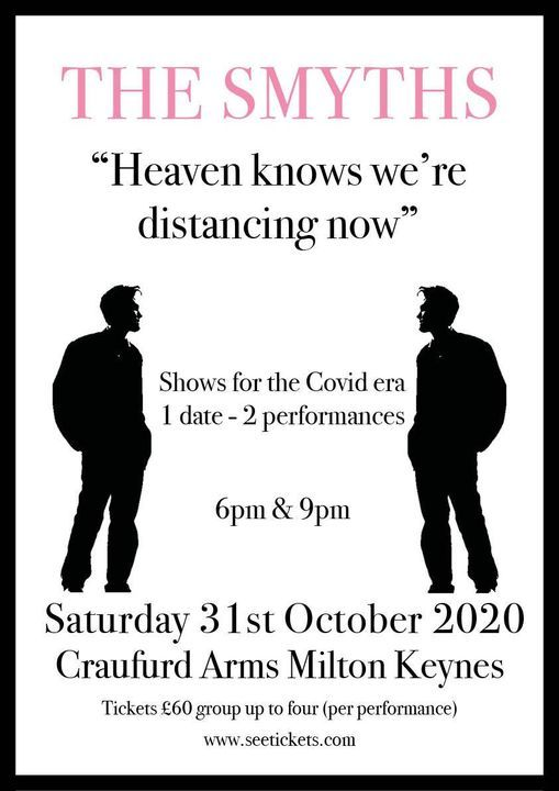 The Smyths - Social distanced gig (5PM), 31 October | Event in Milton Keynes | AllEvents.in
