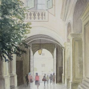 3 places left - Painting Perspective and People with Anne Barnham