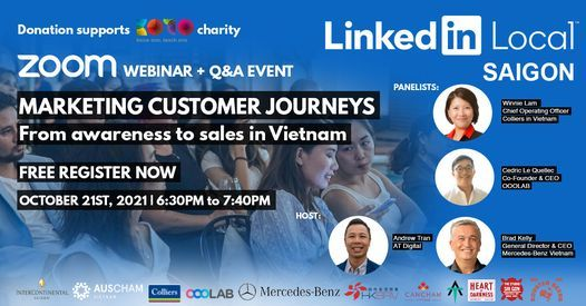 LinkedIn Local Saigon #4 - Marketing Customer journeys: From awareness to sales in Vietnam, 20 May | AllEvents.in