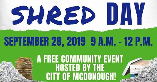 2019 City Shred Day at City of McDonough, Mcdonough