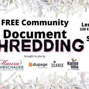 Community Shredding Event