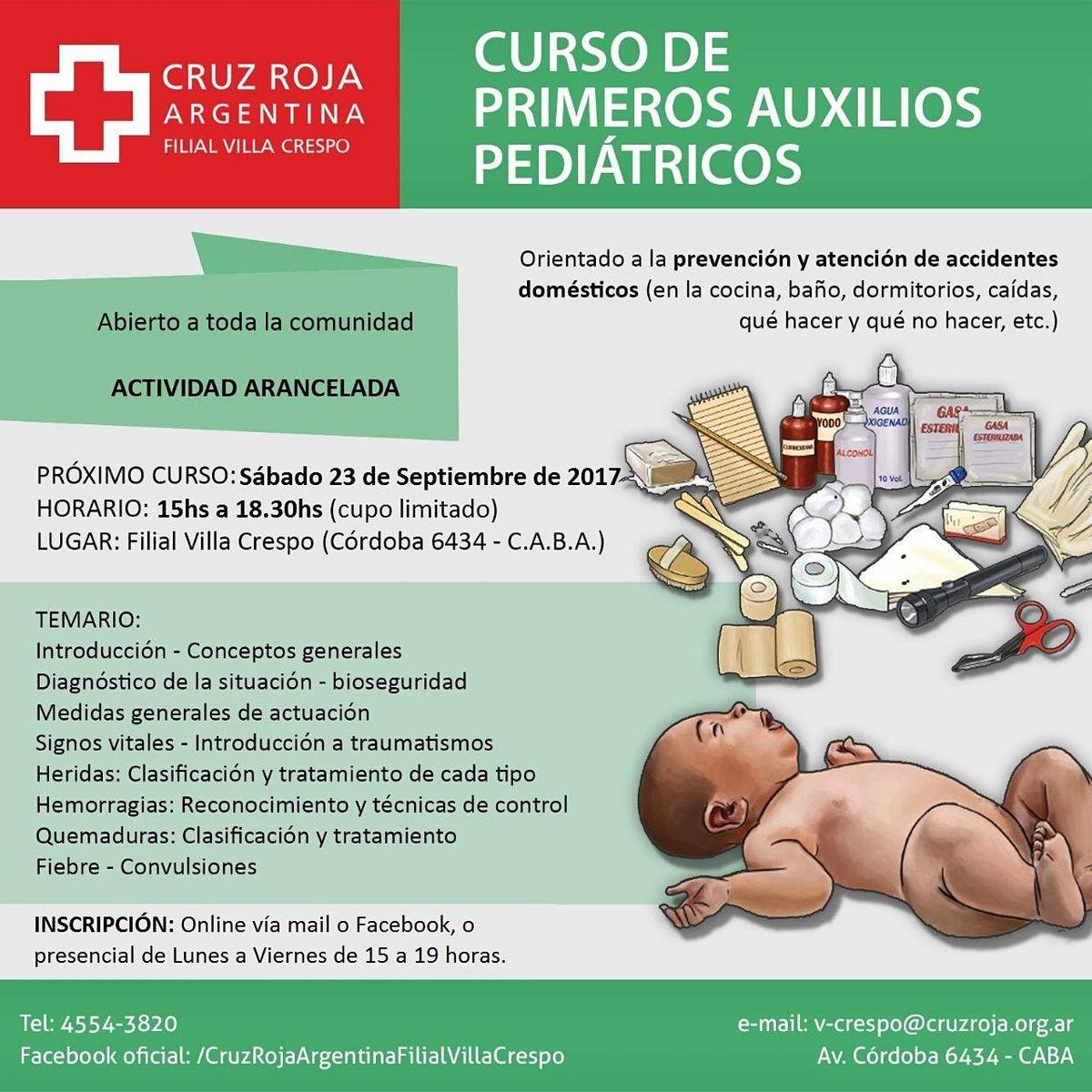 Curso de RCP en Cruz Roja (sábado 31-10-20) - Duración 4 hs., 31 October | Event in Ciudad Autónoma de Buenos Aires