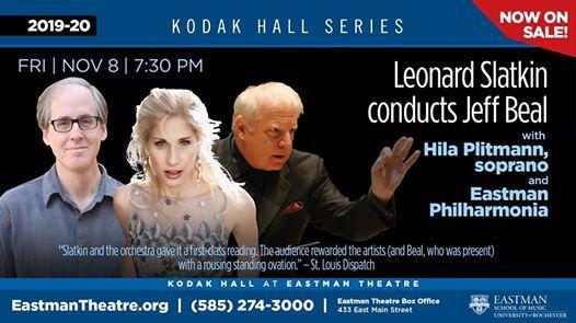 Leonard Slatkin Conducts Jeff Beal at Kodak Hall at Eastman