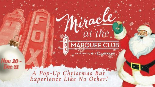 Miracle at the Fox Marquee Club | Event in Fox | AllEvents.in