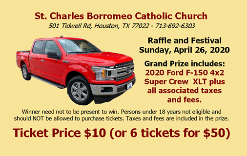 Church festival and raffle