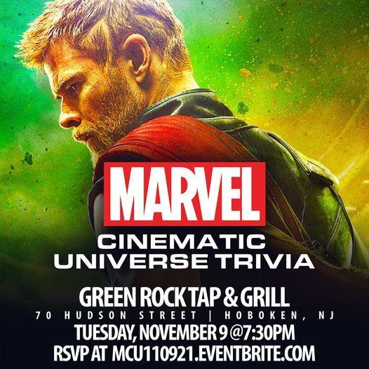 Marvel Cinematic Universe Trivia, 9 November   Event in Hoboken   AllEvents.in