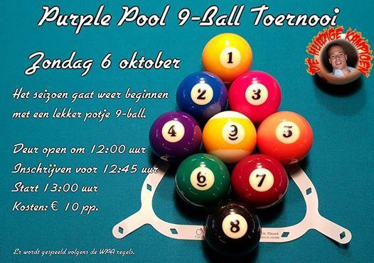 Purple Pool Haarlem.9 Ball Toernooi 6 Oktober At Purple Pool Haarlem