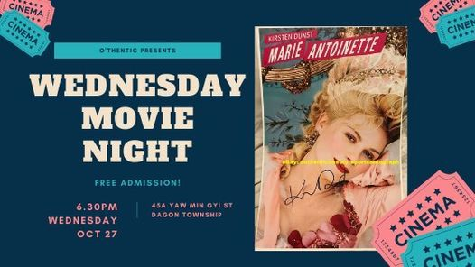 Wednesday Movie Night, 27 October | Event in Yangon | AllEvents.in
