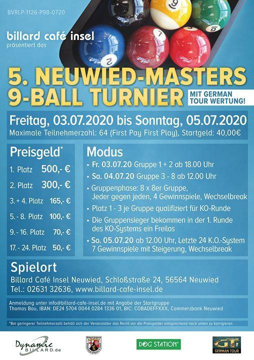 5. Neuwied Masters 9-Ball mit German Tour Wertung