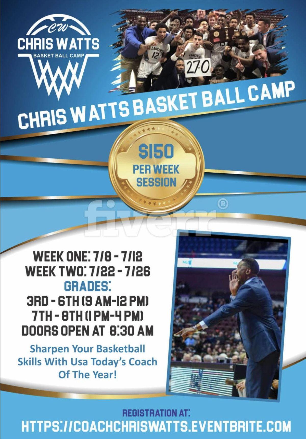 Chris Watts Basketball Camp at Notre Dame Catholic High