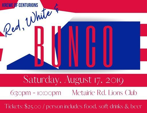 KOC Red, White & Bunco at Lion's Club of Metairie, Metairie