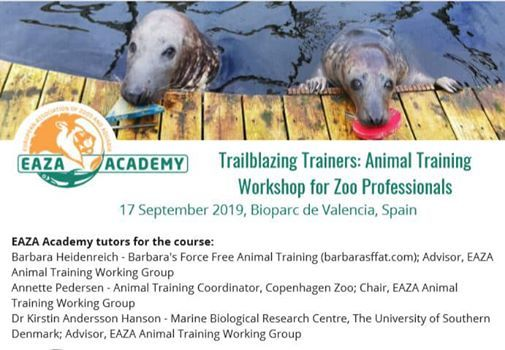 Animal Training Workshop for Zoo Professionals