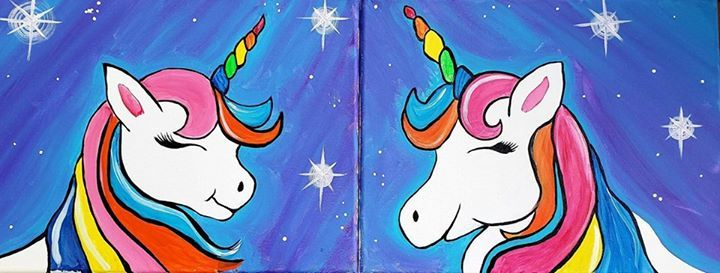 Mommy & Me Painting Class Kzoo - Cosmic Unicorns at Hobby