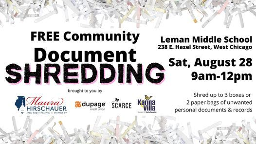 Community Shredding Event, 28 August | Event in Wheaton | AllEvents.in