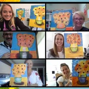 Painting in the Park Class Van Goghs Sunflowers