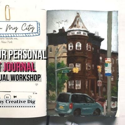 [ Valentine] Paint Your Love Song In Your Art Diary- Virtual Workshop