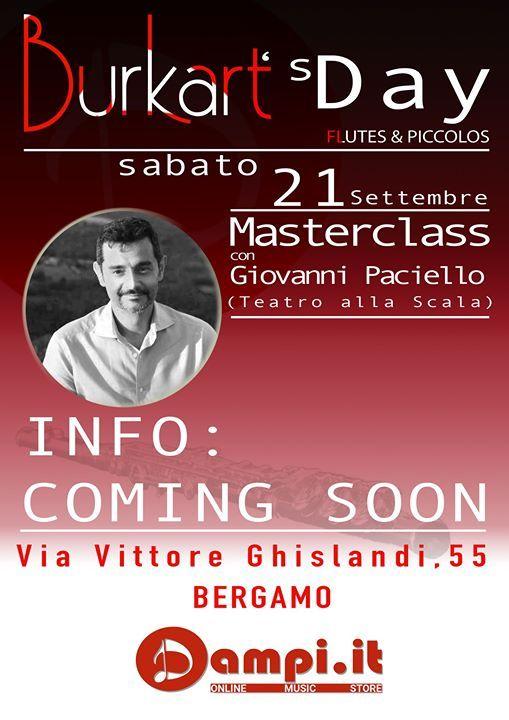 Masterclass di flauto con Giovanni Paciello