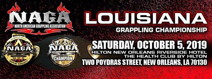 2019 NAGA Louisiana Grappling Championship at Hilton New Orleans