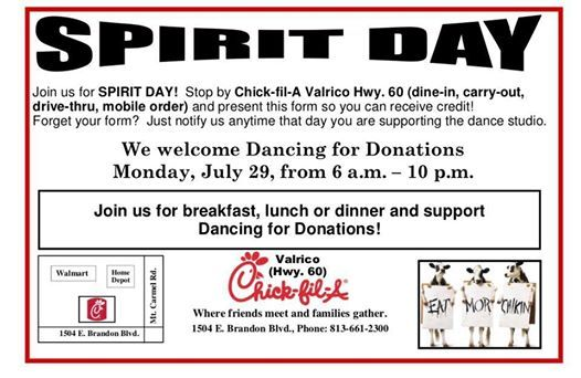 Chick-fil-A Spirit Day! | Brandon