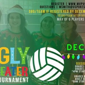 4 vs 4 Ugly Sweater Volleyball Tournament