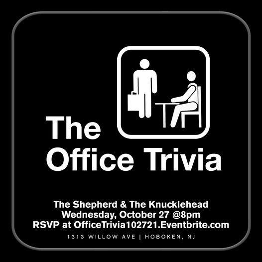 The Office Trivia, 27 October | Event in Hoboken | AllEvents.in