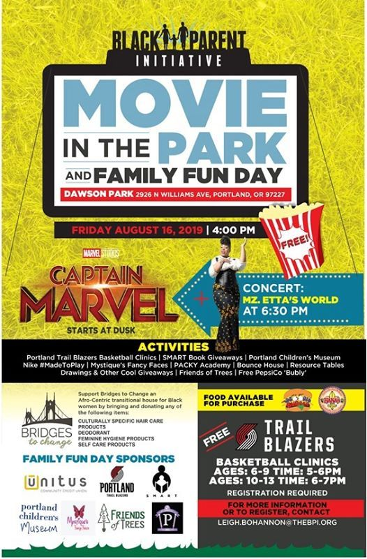 Movie in the Park & BPI Family Fun Day at Dawson Park