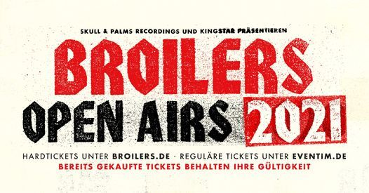 Broilers • Open Airs 2021 • Hamburg, 24 July | Event in Hamburg | AllEvents.in